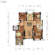 金地檀悦4室2厅2卫126平方米户型图