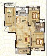 升华・翡翠一品3室2厅1卫110平方米户型图