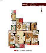碧海青城5室2厅3卫179平方米户型图
