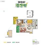 御锦城2室2厅1卫76平方米户型图