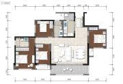 金辉中央�著4室2厅2卫107--133平方米户型图
