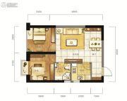 东方希望天祥广场天荟1室2厅1卫59平方米户型图