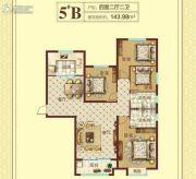 豫飞金色怡苑4室2厅2卫143平方米户型图