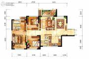 中航城3室2厅2卫88平方米户型图
