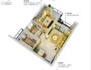 五经・山水大观1室1厅1卫51平方米户型图