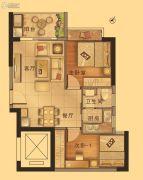 御景江南2室2厅1卫66--72平方米户型图