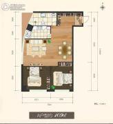 东瑞怡ONE公寓2室1厅1卫45--125平方米户型图