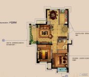 金科财富商业广场3室2厅1卫92平方米户型图