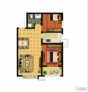 骏景豪庭2室2厅1卫84平方米户型图
