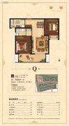 荣盛花语城2室2厅1卫85--87平方米户型图