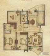 广洋海尚国际3室2厅2卫158平方米户型图