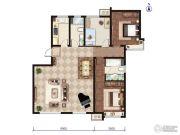 远洋红熙郡3室1厅2卫126平方米户型图