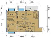 御�Z华庭3室2厅1卫86平方米户型图