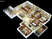 紫薇・睿纳时代4室2厅2卫176平方米户型图