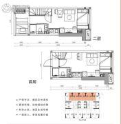 涛汇广场3室2厅2卫29平方米户型图