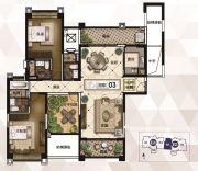 雅居乐御龙山3室2厅3卫171平方米户型图