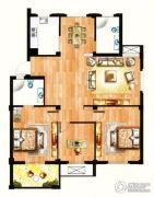 银兰公寓3室2厅2卫132平方米户型图