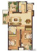 公元壹号3室2厅1卫98平方米户型图
