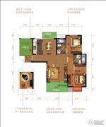 三江・黄石共和城2室2厅2卫109--113平方米户型图