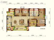 润扬观澜鹭岛4室2厅2卫126平方米户型图