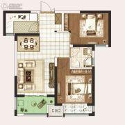 永威城2室2厅1卫70平方米户型图