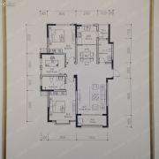 湾田广场2室2厅2卫93--98平方米户型图