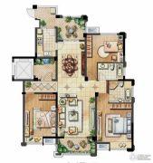 保利香槟国际3室2厅2卫146平方米户型图