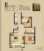 万象家园2室1厅1卫0平方米户型图