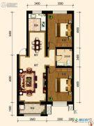 古御壹号2室2厅1卫90平方米户型图