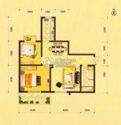 祥瑞・四季印象2室1厅1卫86平方米户型图