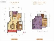 龙记玖玺4室2厅3卫165平方米户型图