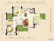 世茂城4室2厅2卫105平方米户型图