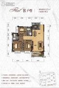 天元・美居乐3室2厅2卫105平方米户型图