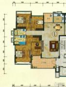 珠光流溪御景4室2厅2卫158平方米户型图