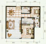 锦尚国际2室2厅1卫92平方米户型图