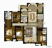 哈尔滨星光耀广场4室2厅3卫0平方米户型图