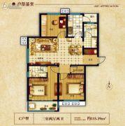水榭雅庭3室2厅2卫115平方米户型图