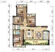 旭辉东原长河原4室2厅2卫0平方米户型图