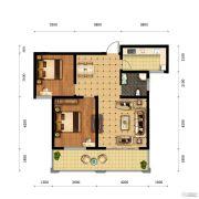 中原国际2室2厅1卫0平方米户型图