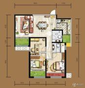 天居锦河丹堤3室2厅2卫113平方米户型图