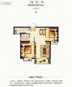 宏伟九庭2室2厅1卫83平方米户型图