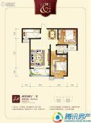 九乐倾城2室2厅1卫93平方米户型图
