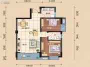 文昌新城2室2厅1卫82平方米户型图
