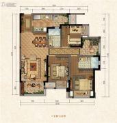 融创江南融府3室2厅2卫0平方米户型图