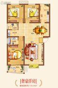 基正盛世新天3室2厅2卫129平方米户型图