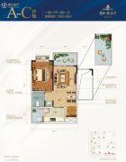 景园悦海湾1室1厅1卫62平方米户型图