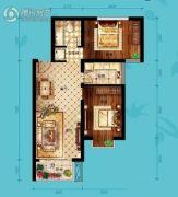 北海・水印泉山2室2厅1卫92平方米户型图