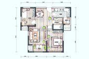 新梅江锦秀里2室2厅1卫91平方米户型图