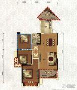领地・国际公馆2室2厅1卫89平方米户型图