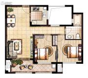 领秀琥珀澜湾2室2厅1卫0平方米户型图